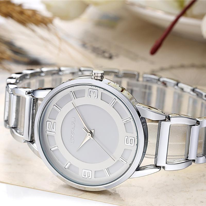 850fb1c2ac7d3 New Luxury Brand CRRJU Relogio Feminino Clock Women Rose Gold Bracelets  Watches Ladies Fashion Casual Watch