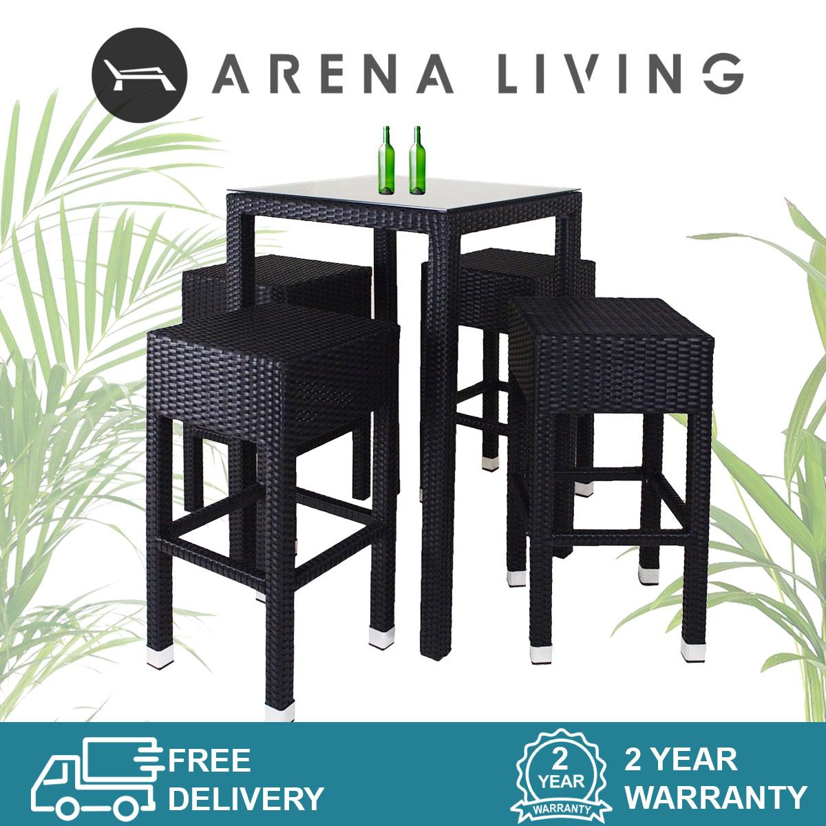 Sorona 4 Chair Bar Set  Outdoor Furniture  Balcony Chair  Bar Chair