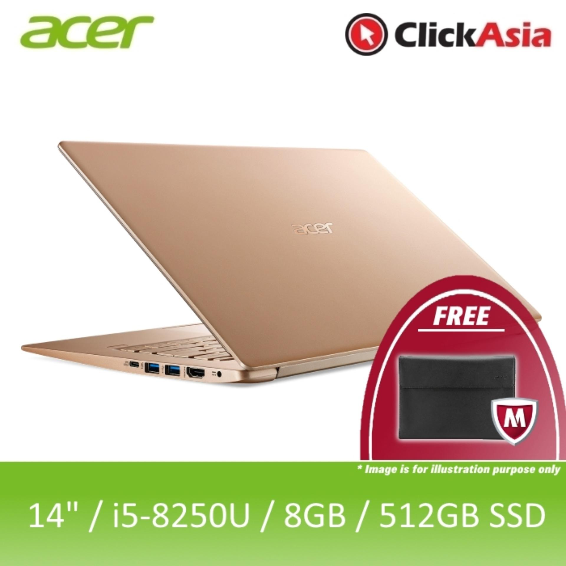 Acer Swift 5 (SF514-52T-57WC) - 14/i5-8250U/8GB DDR4/512GB SSD/UHD/W10 (Gold)