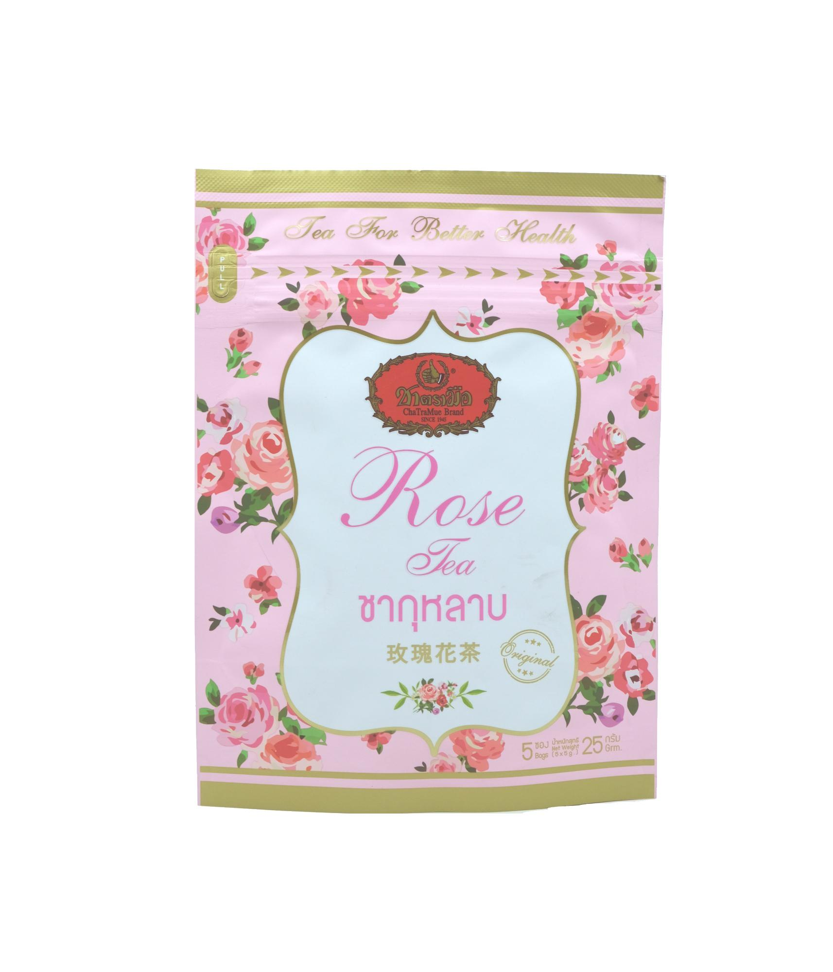 Thai Cha Tra Mue Rose Tea Mix – 5 Teabags By Ctfs Online.