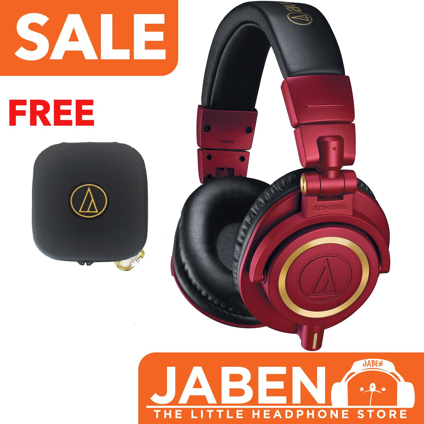 Get Cheap Audio Technica M50X Limited Edition Red With Free Carrying Case