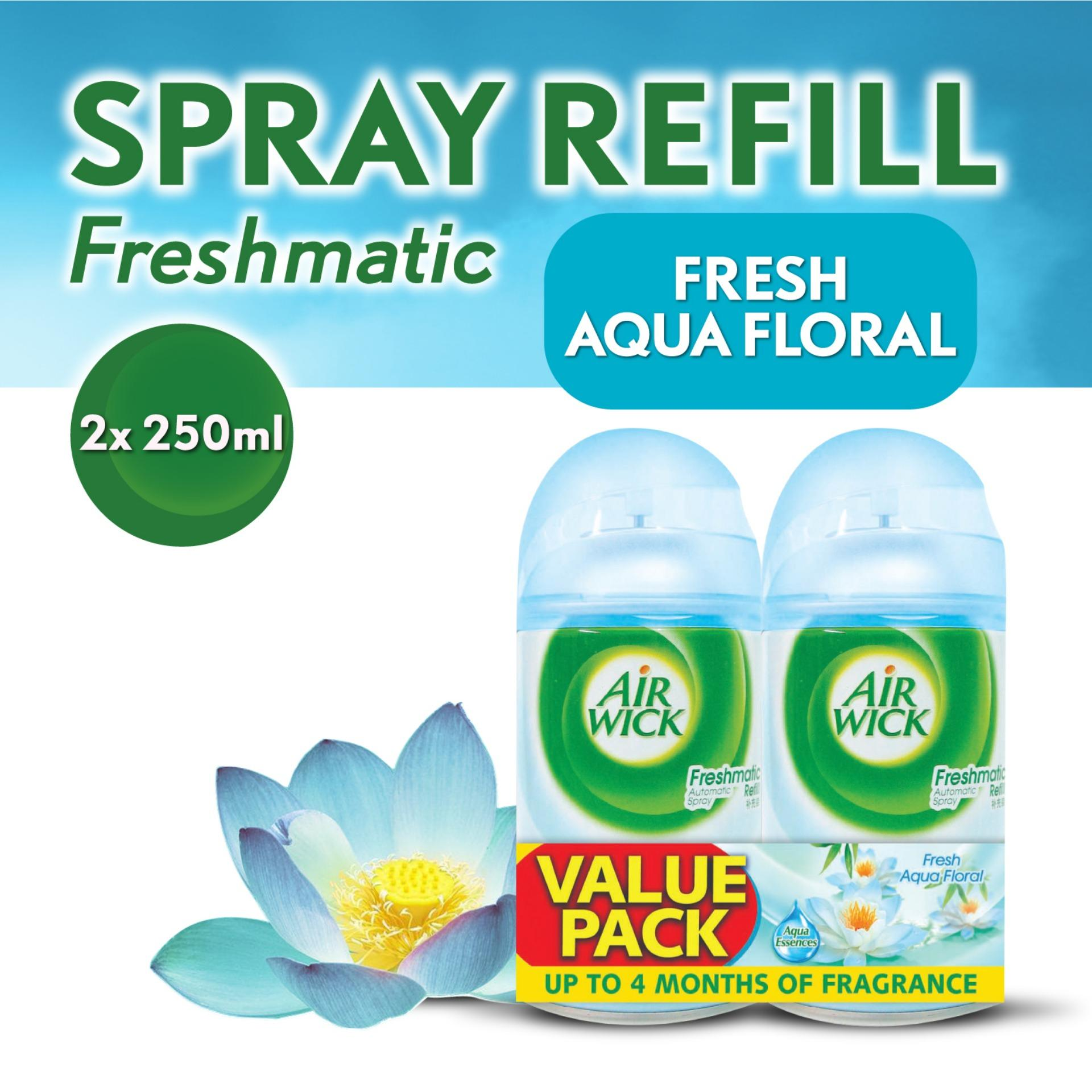 Airwick Freshmatic Aqua Floral Refill Twin Pack Air Care / Freshener