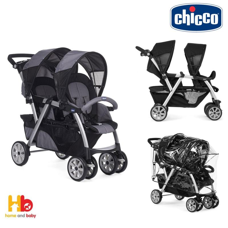 Chicco Together Twin Stroller - Coal Singapore