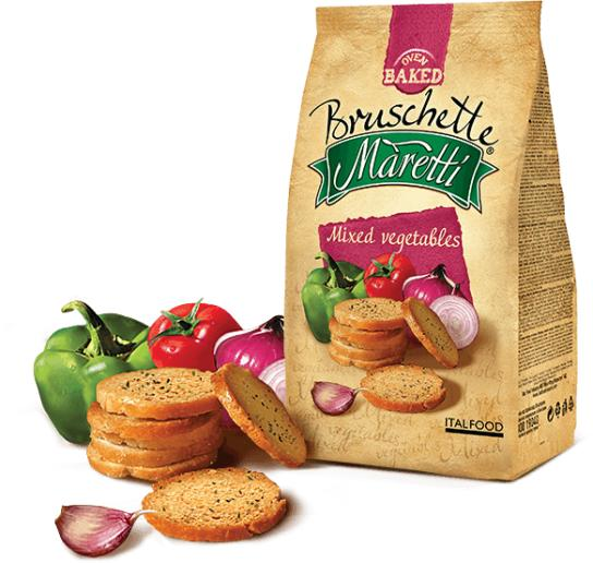 Maretti Bruschette Chips Mediterranean Vegetables [14 X 70g] By Matrix Star Official Store.