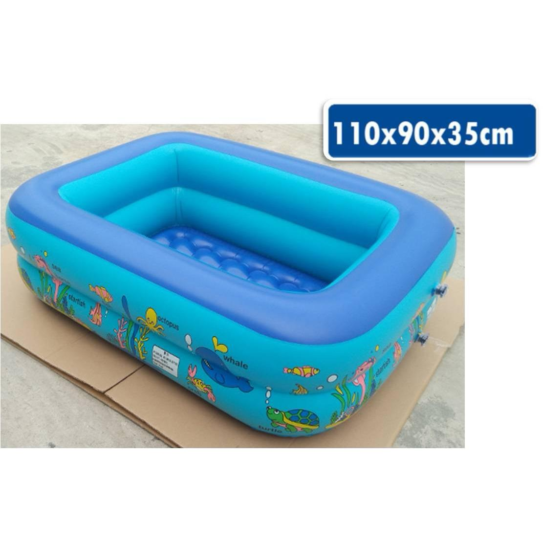 Inflatable Swimming Baby Toddler Kids Child Boy G*rl Pool Swim Float Bathtub Tub Intex Shower Wading 110 90 35Cm Compare Prices