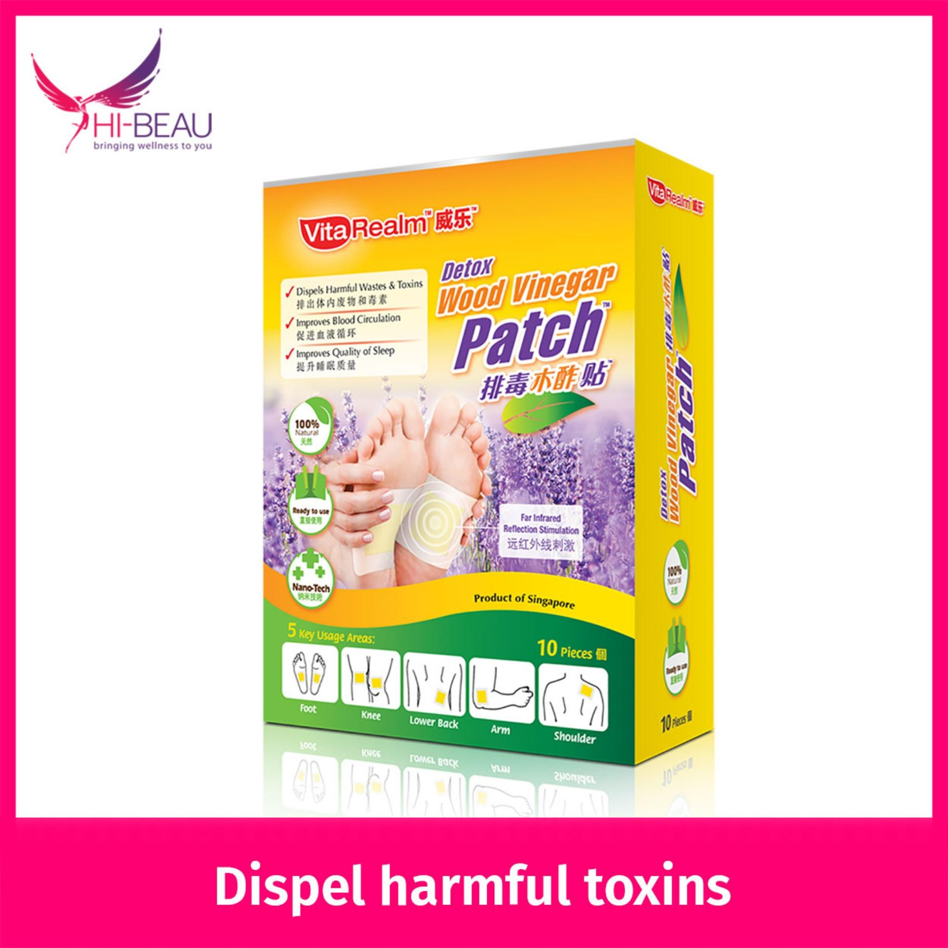 Review Vitarealm Detox Wood Vinegar Patch Vitarealm On Singapore