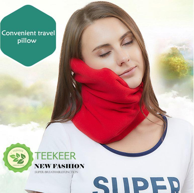 Teekeer Super Soft Neck Support Travel U Pillow Neck Head Support Scarf Cushion Pad For Flight Rest - Intl By Teekeer.