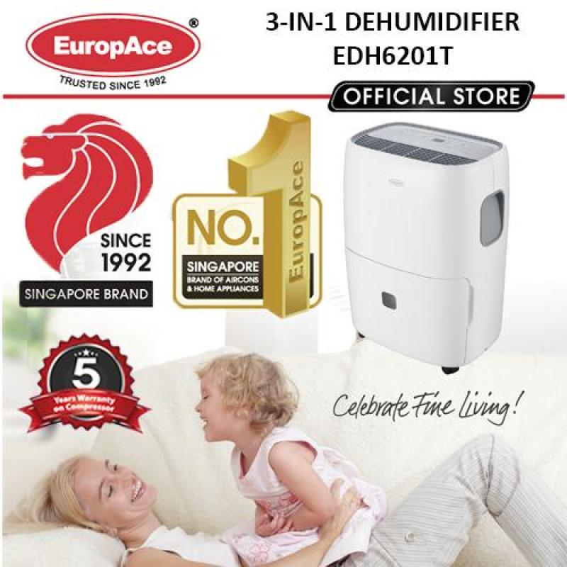 EDH 6201T 3-IN-1 DEHUMIDIFIER (Dehumidifer with & Laundry mode, AirPure) - FREE 2 X FILTER WORTH $129 Singapore