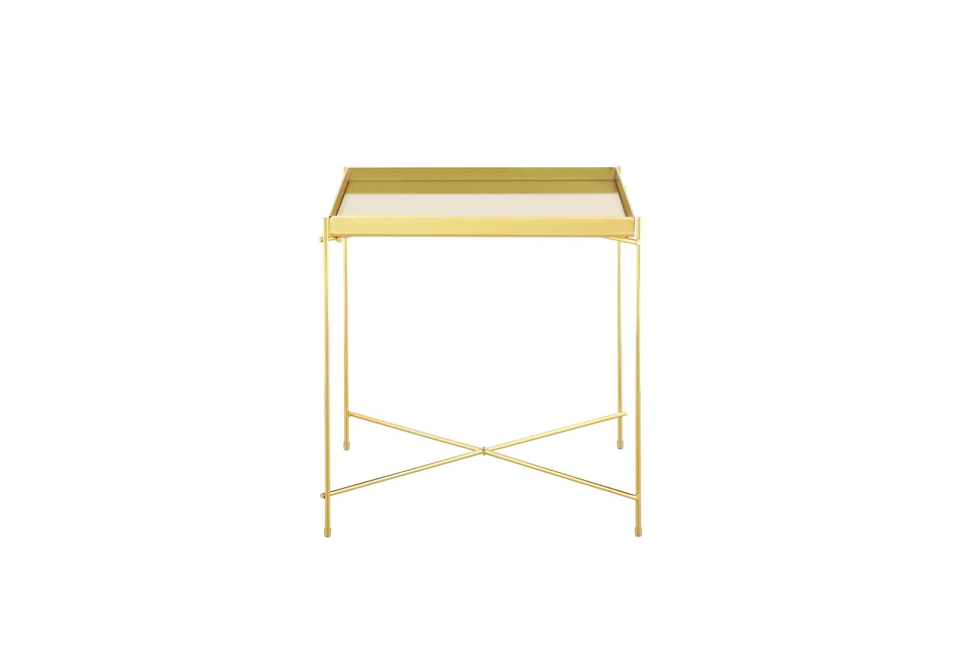 Bo Living SEA Oakland Gold Metal Mirror Side Table - Square