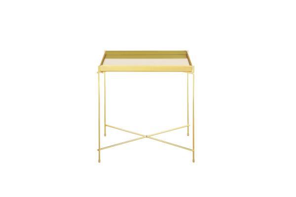 Bo Living SEA Oakland Gold Metal Mirror Side Table - Square