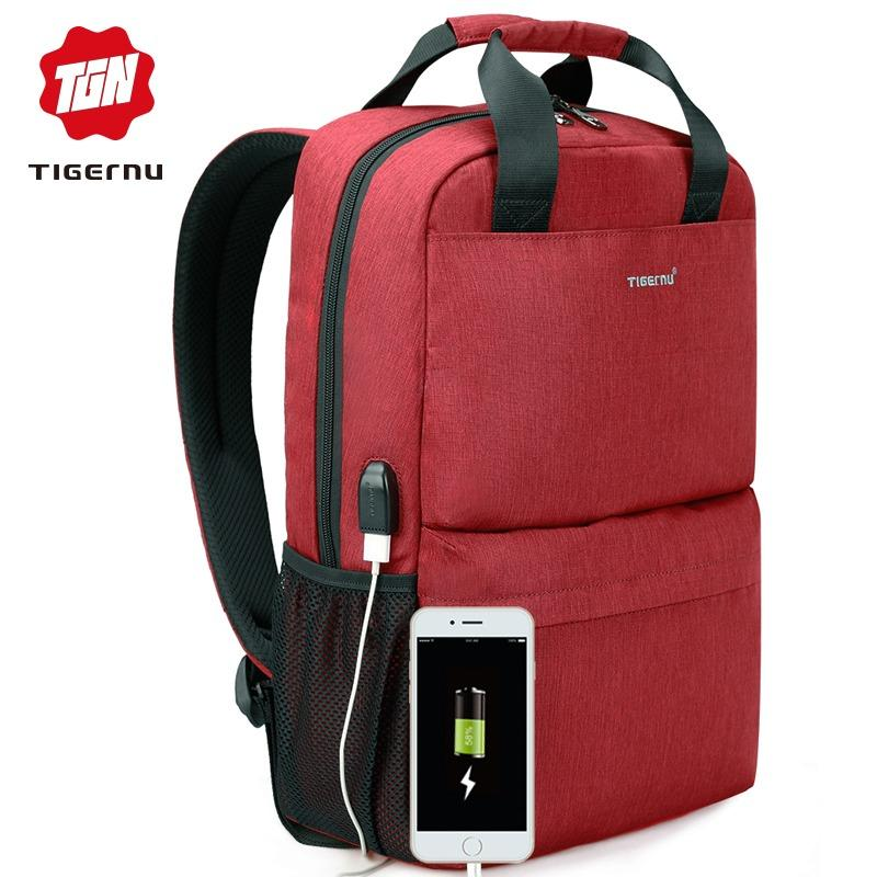 Tigernu Original Usb Charge 15 6 Laptop Backpack For 12 15 6 Inch Notebook T B3508 Intl Best Price