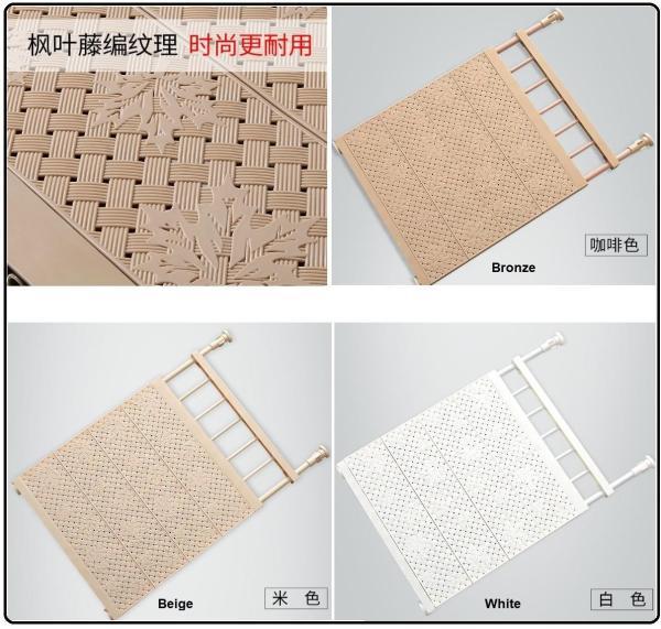 Adjustable Wardrobe Divider / Cabinet Closet Shelf Divider / Storage Divider Rack (Length 53-90cm)