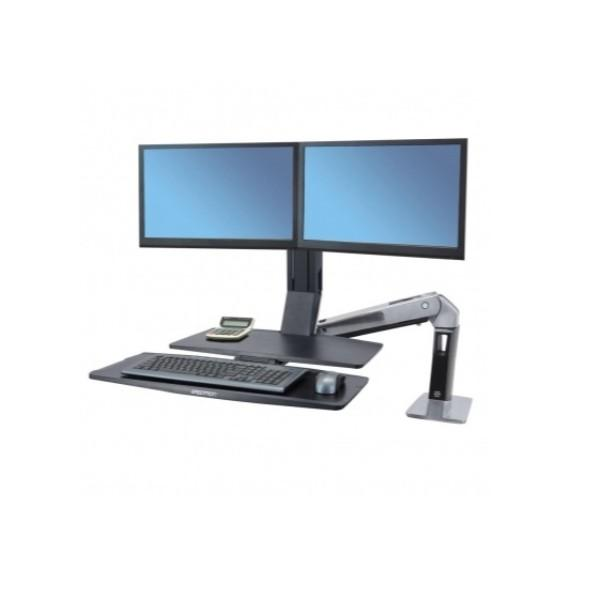 Ergotron WorkFit-A, Dual Monitor with Worksurface+