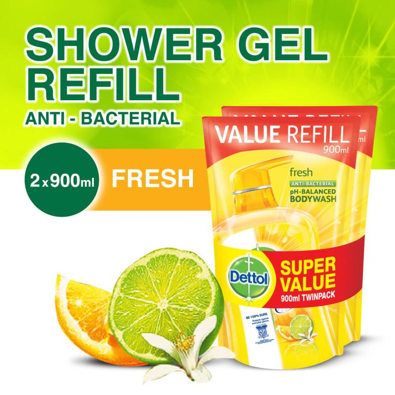 Buy 2x Dettol Anti-Bacterial Body Wash Fresh Refill 900G Singapore