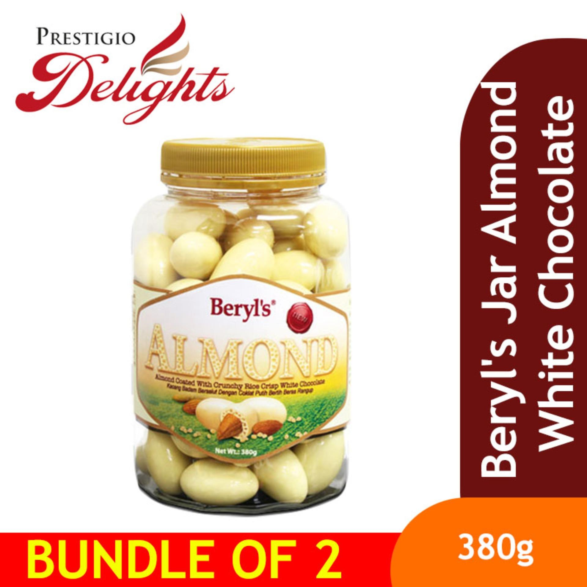 Beryls Jar Almond White Chocolate Bundle Of 2 By Prestigio Delights.