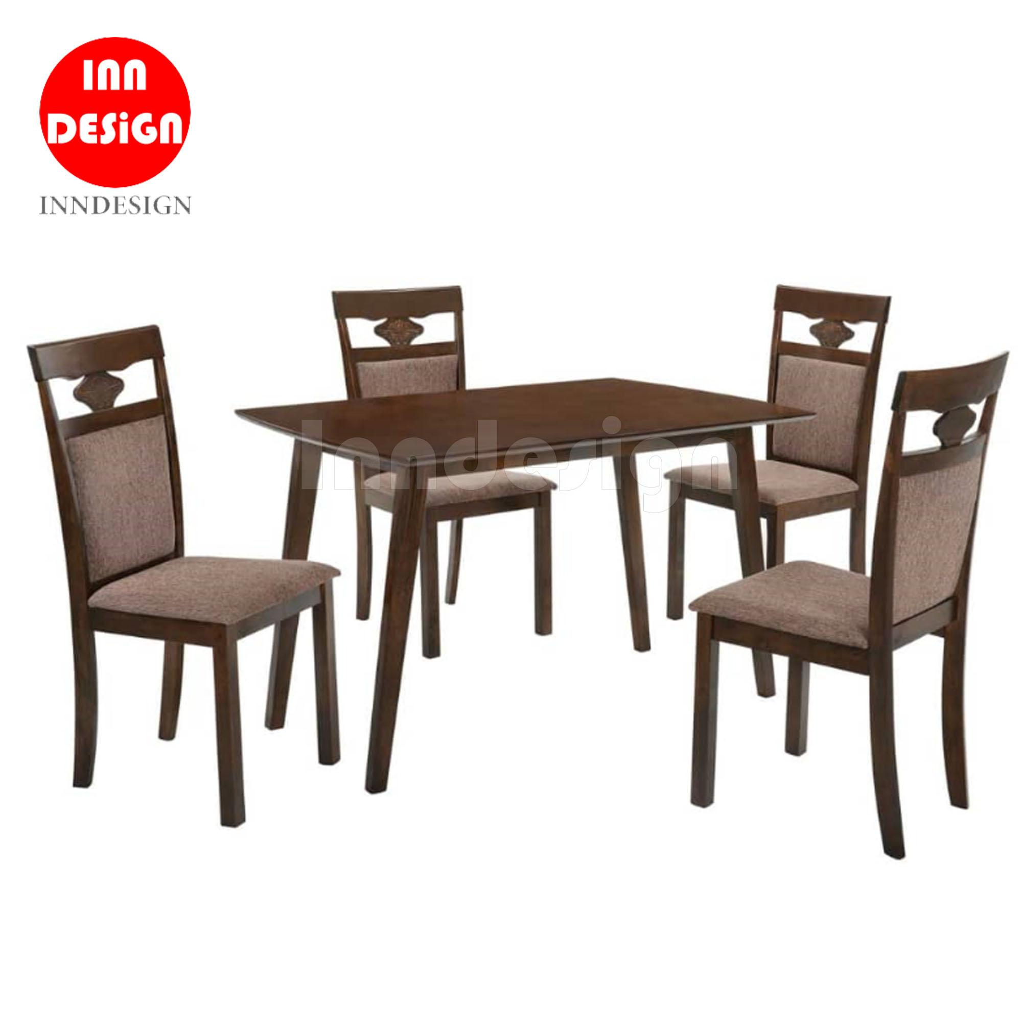 RETRO 1+4 DINING TABLE SET WITH CUSHION SEAT (Free Delivery and Installation)