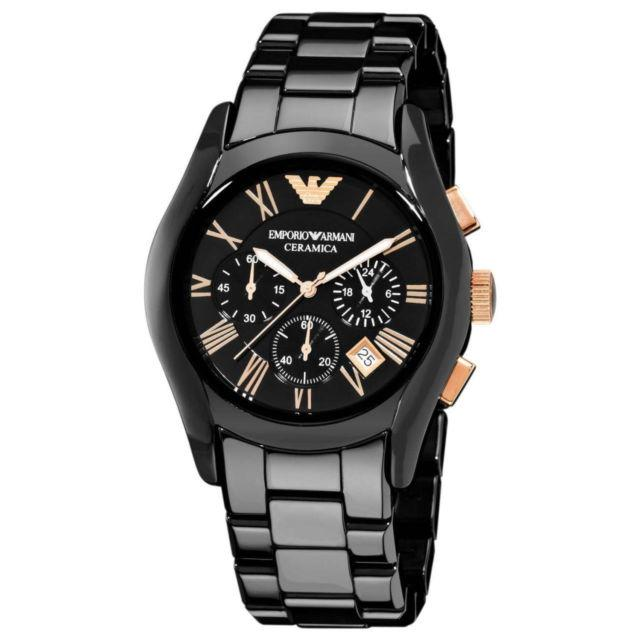 Emporio Armani Black Mens Ceramica Ceramic Quartz 42mm Dial Watch Ar1410 By Watch Centre.