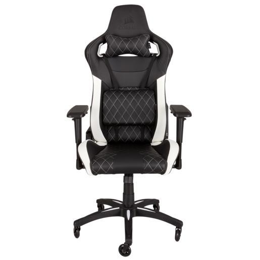 CS-CF-9010002-WWCORSAIR T1 RACE Gaming Chair — Black/White
