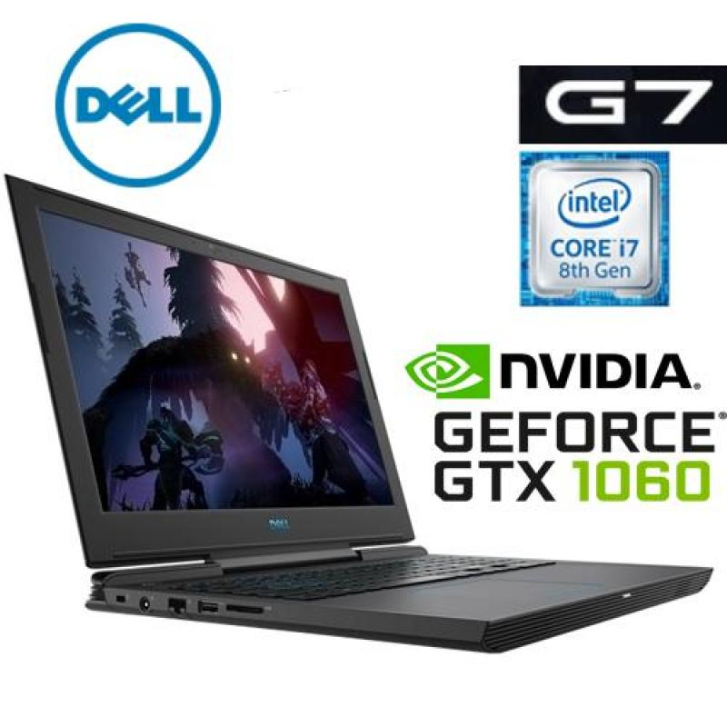 DELL G7 GAMING LAPTOP INTEL CORE I7-8750H / 16GB DDR4 /256GB SSD +1TB HDD / NVIDIA GeFORCE GTX1060 6GB /15.6FHD IPS ANTI GLARE LED SCREEN/1 YR DELL WARRANTY