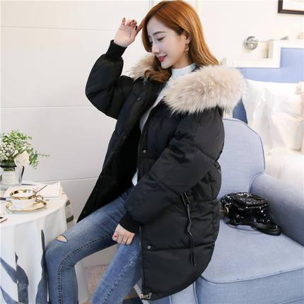 Off Season Winter Down Jacket Cotton-Padded Clothes Coat Cotton-Padded Jacket Female Mid-Length 2018 New Style Korean Style Loose Students Thick Cotton-Padded Clothes By Taobao Collection.