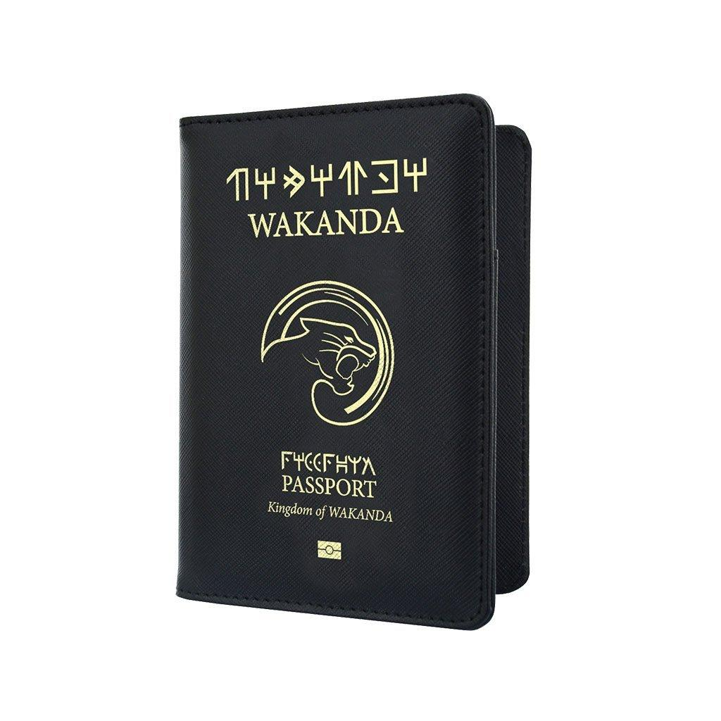 Buy Passport Cover Travel Accessories Welcome To Wakanda Marvel Inspired Black Panther Infinity War Synthetic Leather Avengers Gift Present
