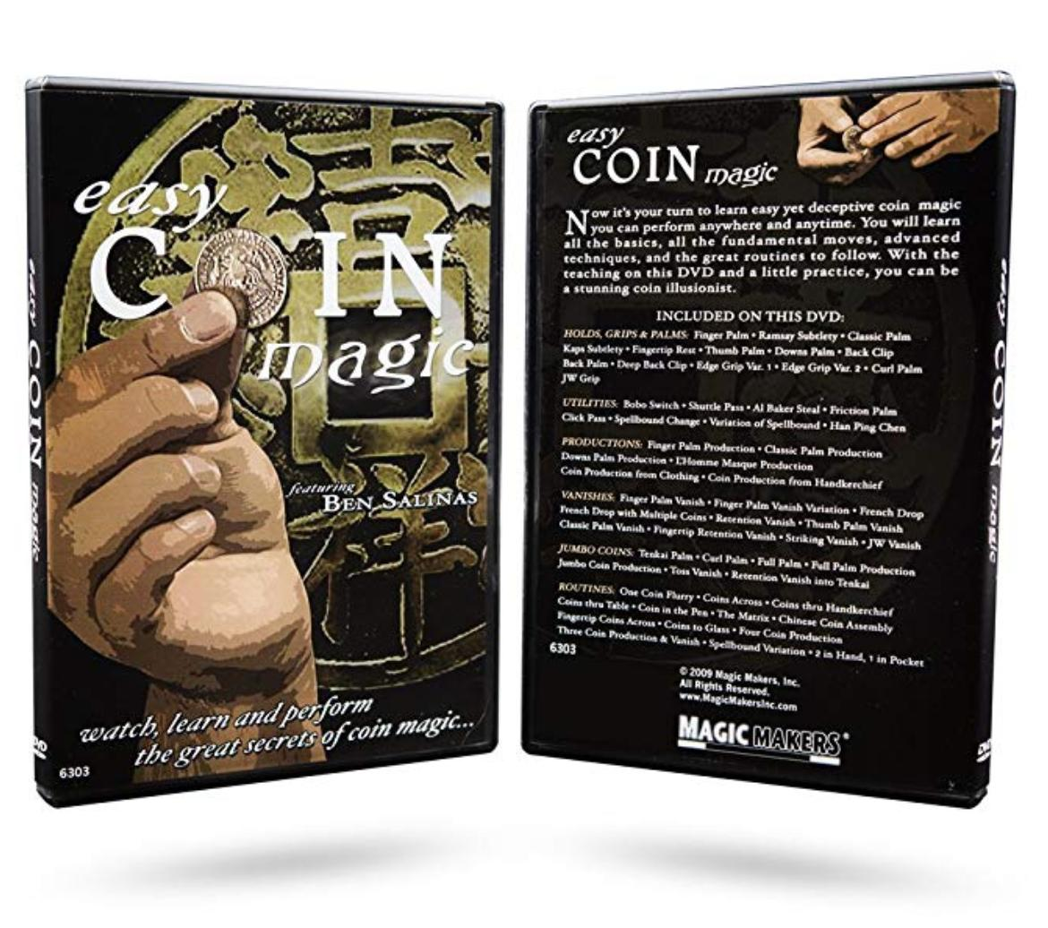 Magic Makers Easy Coin Magic Tricks Dvd Taught By Ben Salinas By Underoneroof.