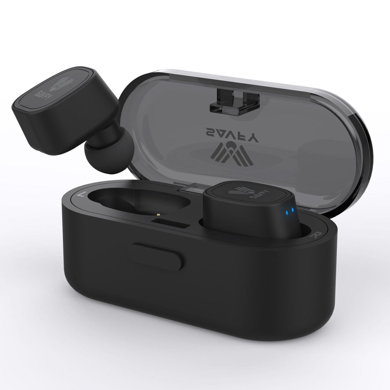 edd70f3a88f SAVFY True Wireless Earbuds, Mini Bluetooth Twins Sport Earphone Headset  Headphone with Charging Case(