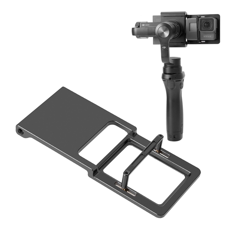 Gimbal Adapter Mount Plate for GoPro 6 5 4 DJI Osmo Mobile 2 Zhiyun Smooth 4
