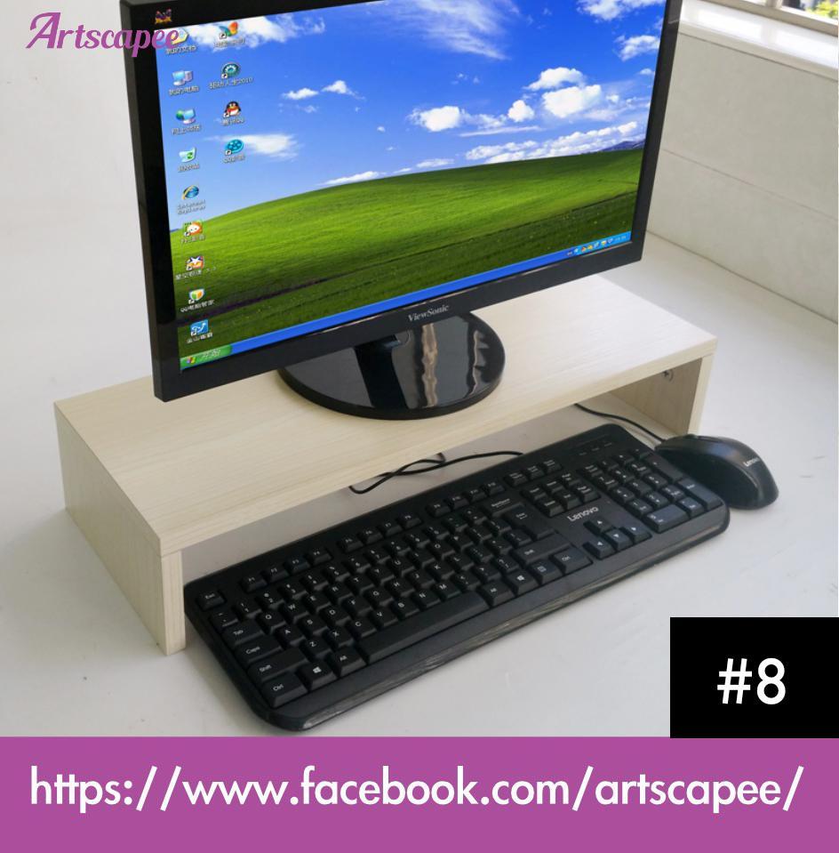 Monitor Stand Desktop Organiser Maple
