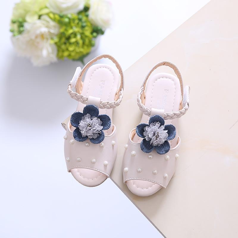 Girl s Sandals 1-3-6-Year-Old Summer New Style Princess 2018 cd96fd58b62f
