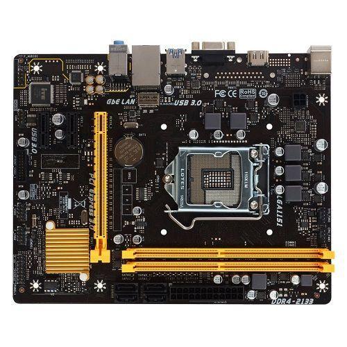Biostar H110MH Pro D4 LGA 1151 Intel H110 HDMI Sata 6Gb/s USB3 Micro ATX  Intel MB