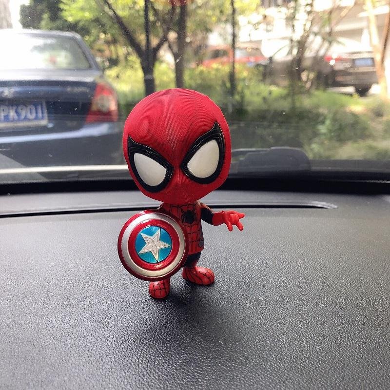New Style Marvel Cartoon Movie Garage Kit Model Rotating Spiderman Car Decoration Car Mounted Nei Shi Pin Decoration Figurine By Taobao Collection.