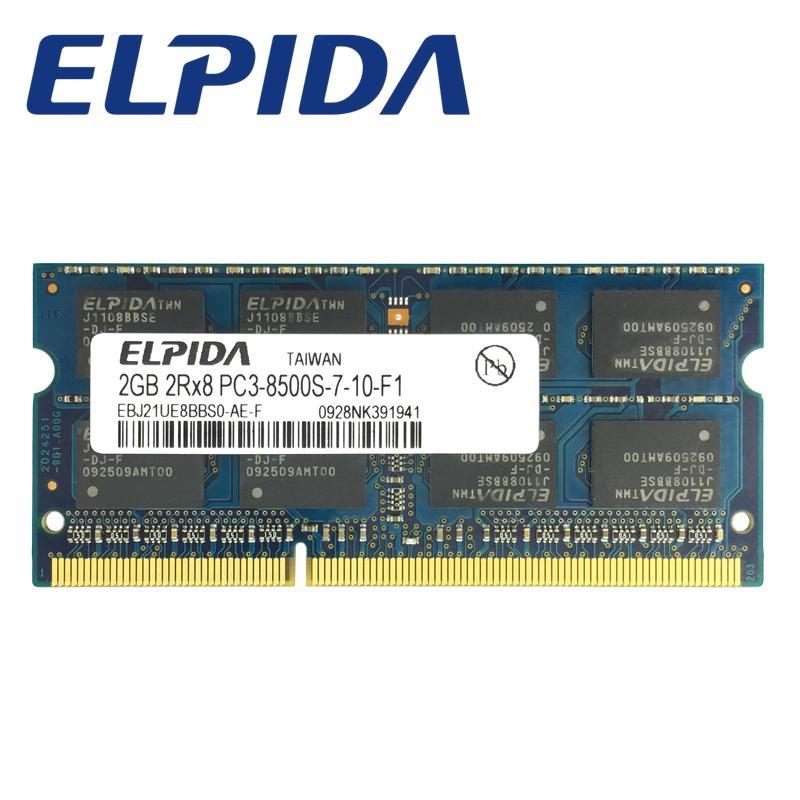 Compare Price Elpida Ddr3 2Gb 1066Mhz Pc3 8500 So Dimm Memory Ram Laptop 2Gb Pc3 8500 Memoria Notebook Intl On China