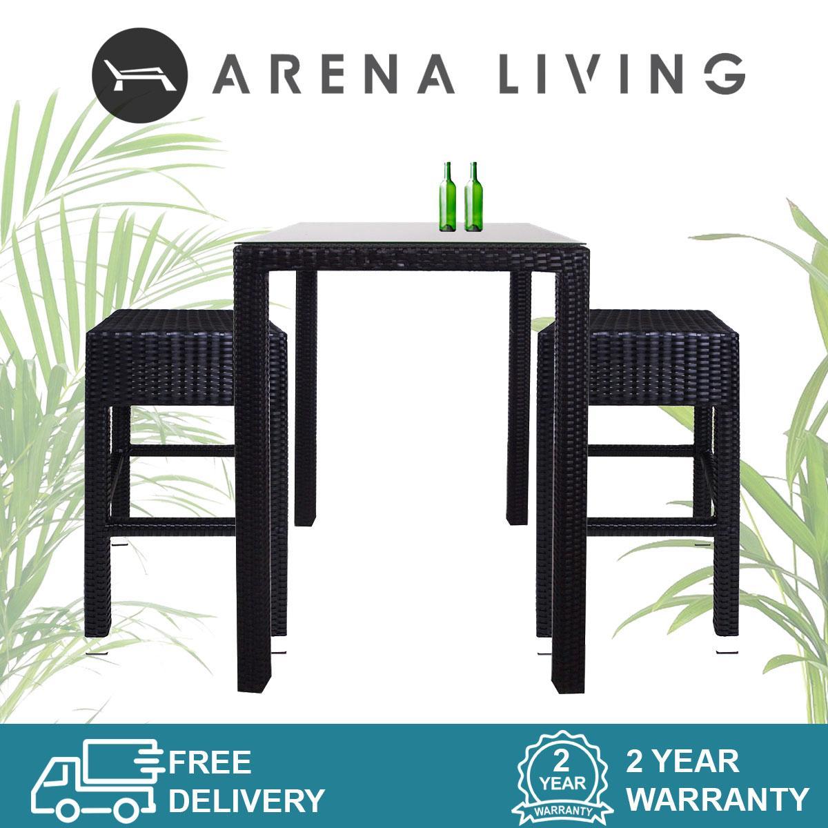 Sorona 2 Chair Bar Set  Outdoor Furniture  Balcony Chair  Bar Chair