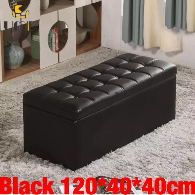 Buy Umd Type C Pu Leather Storage Ottoman Storage Box Storage Bench With Large Storage Capacity Umd Life Online