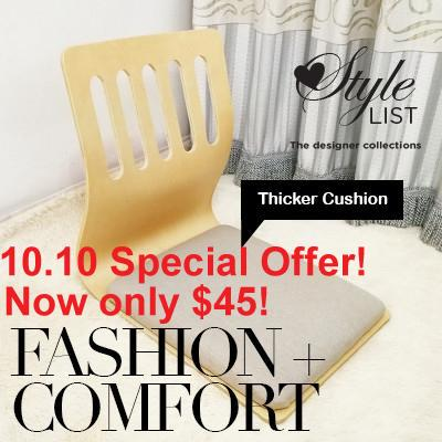 Japanese Tatami Wooden Floor Chair / Legless Chair / Simplicity Lazy Chair (Extra Thick version) 10.10 Special Offer! Hurry to get one!