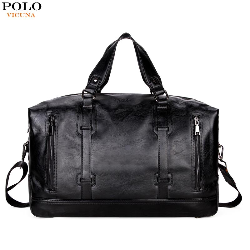 a891c144bb  HOT SALE  VICUNA POLO Business Men Travel Bags Large Capacity Brand Casual  Black Travel