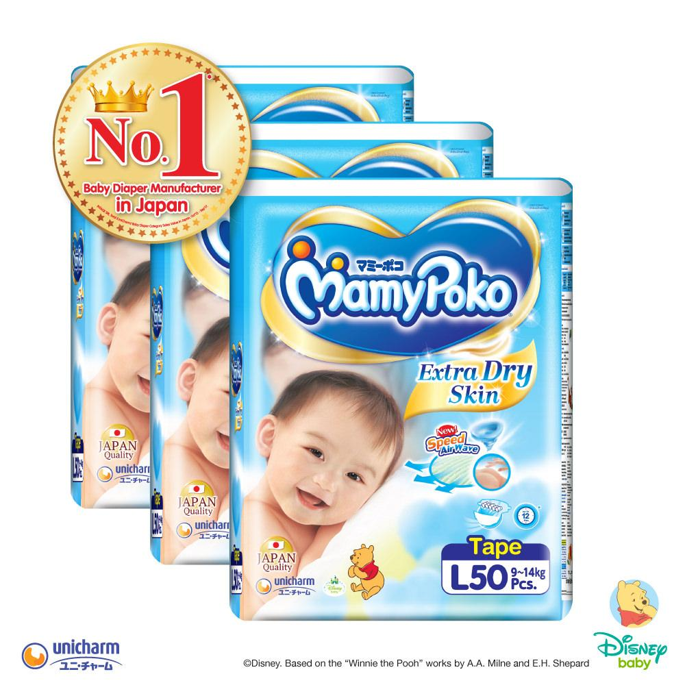 Buy Mamypoko Tape Extra Dry Skin L50 3 Pack