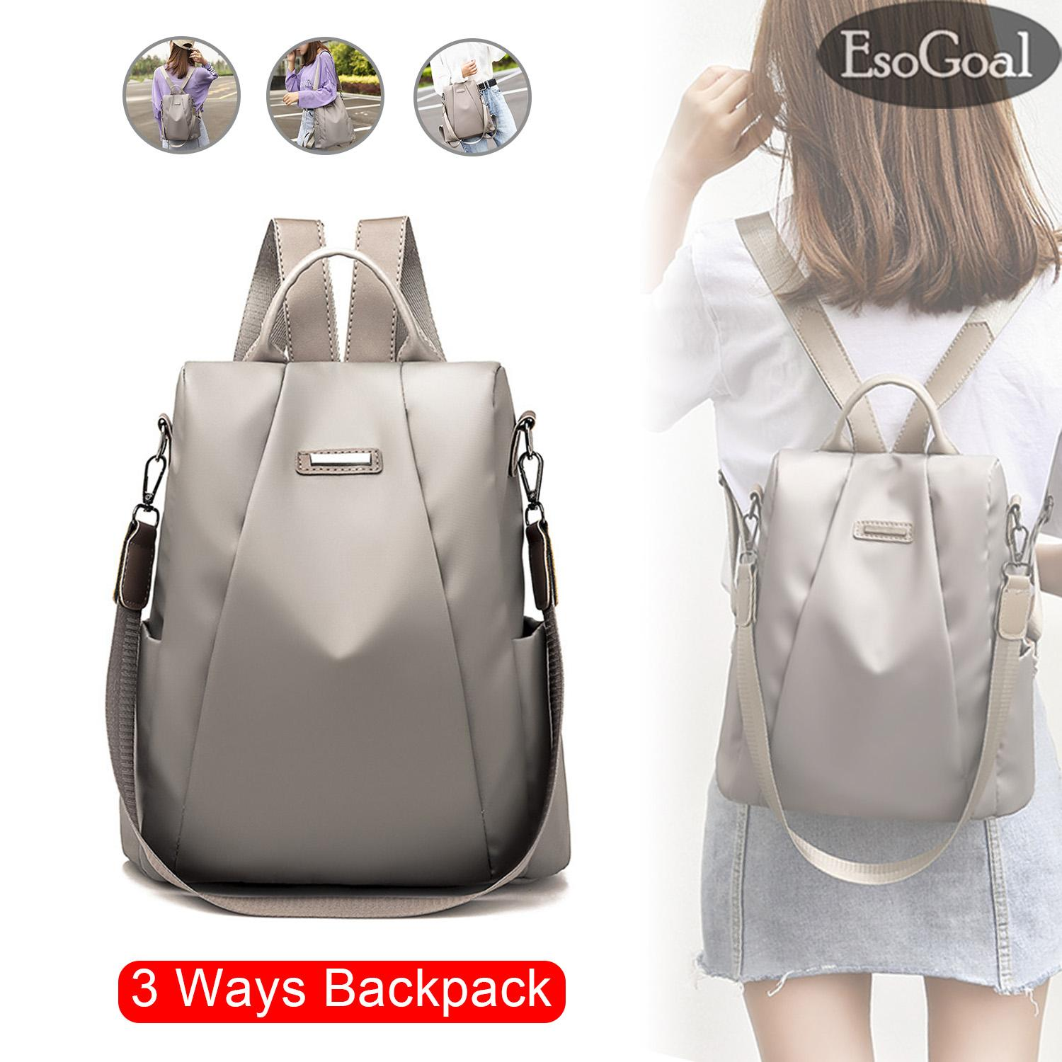 EsoGoal Fashion Women Backpack Shoulder Bag Korea Style Anti-theft Backpack  College School Bag For f2927fa4e3233