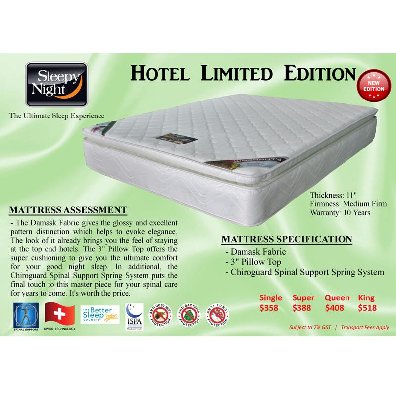 INNDESIGN Sleepy Night 11 inches Hotel Edition Mattress (10 Years Warranty)