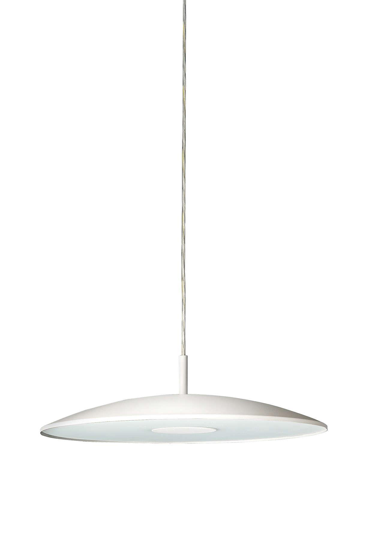 Philips 31145 LED Pendant White/Nickel 20W