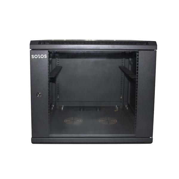 SOLOS Cabinets 6U 9U 12U 15U 18U Wall Mount Network Server 600mm Depth Cabinet Rack Enclosure Glass Door Lock