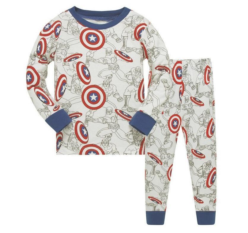 KOR111 Toddler Kids Pajamas PJs Sleepwear - Captain America 713e63f69