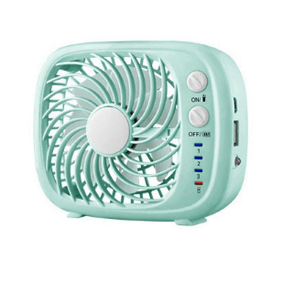 Usb Rechargeable Electric Fan Dual-Purpose Mini Cooler Flashlight