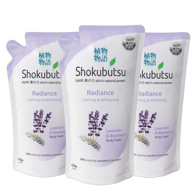 Buy Shokubutsu Radiance Body Foam - Calming & Whitening 600ml x3 Singapore