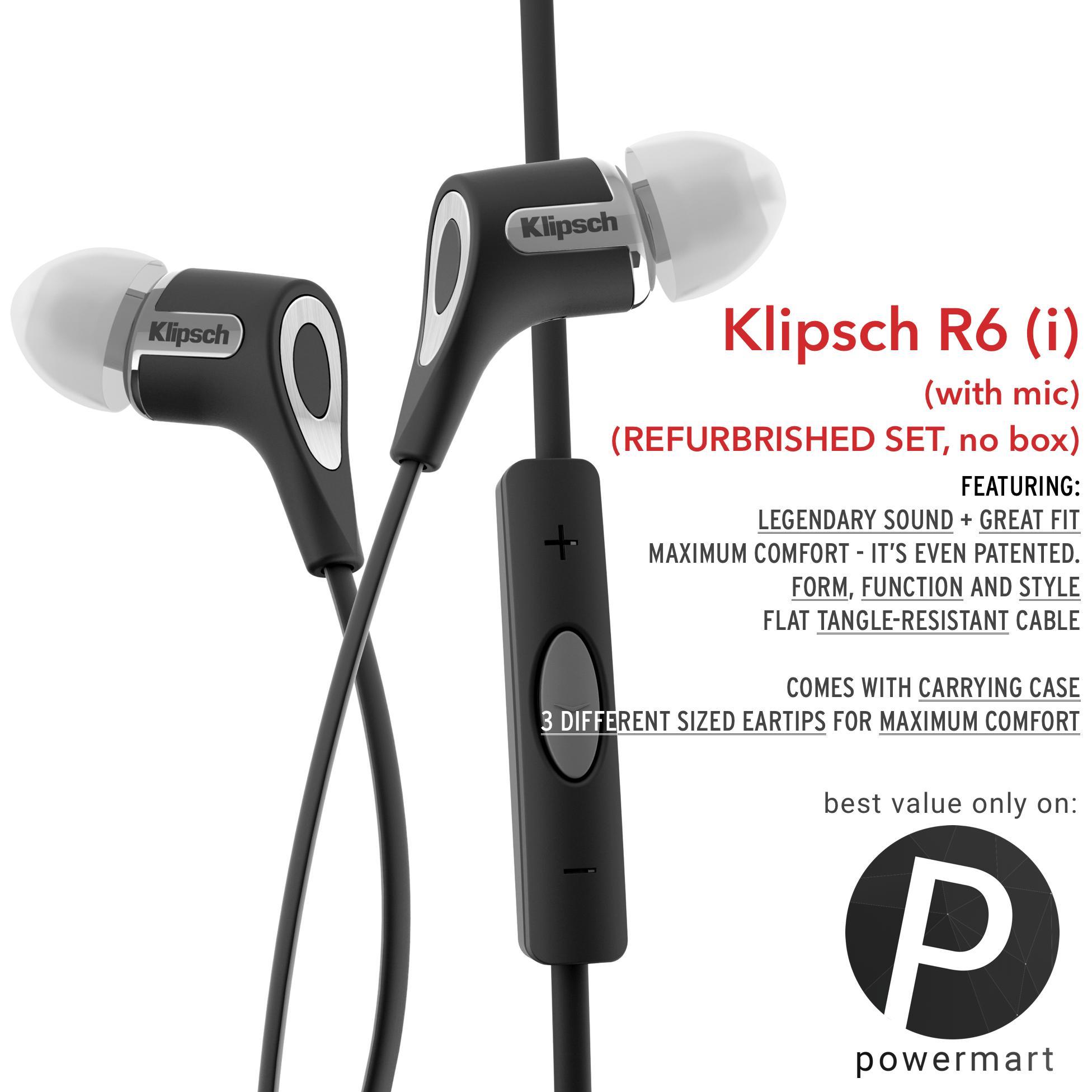 Klipsch R6(i) (Black, Refurbrished)