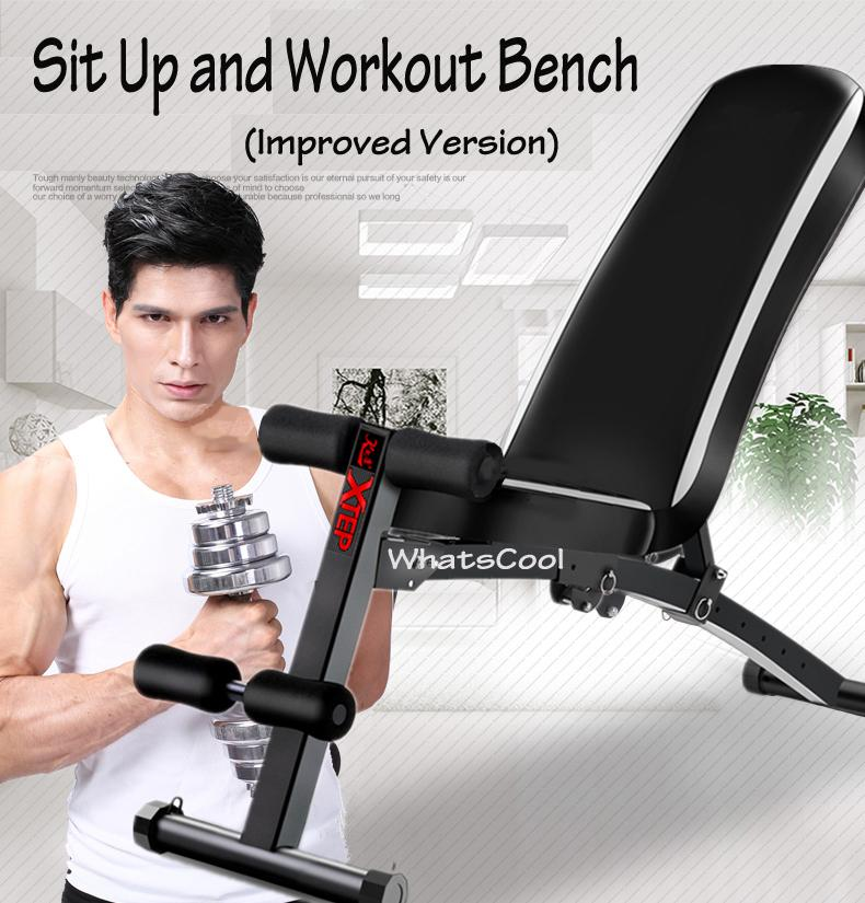 Adjustable Sit Up Incline And Decline Workout Bench By My Cool Shop.