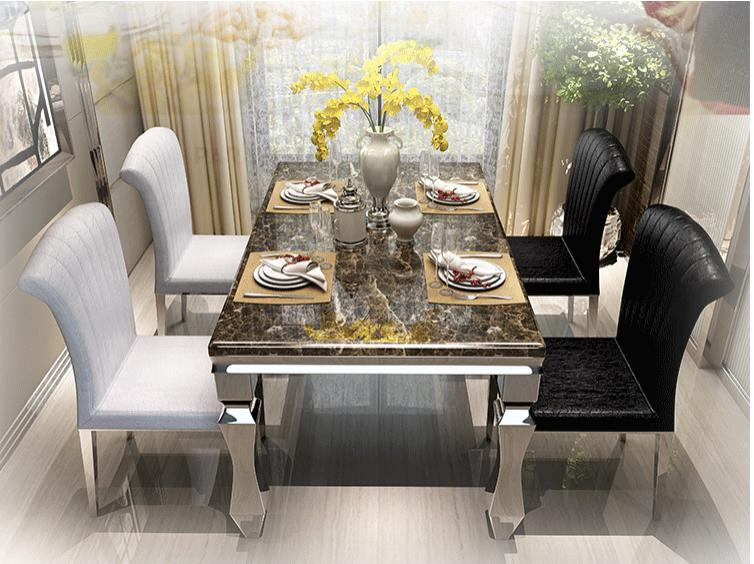 JIJI (Free Installation) Statue Marble Top Dining Table (Dining Table ONLY) (Free 12 Month Local Seller Warranty) (SG)