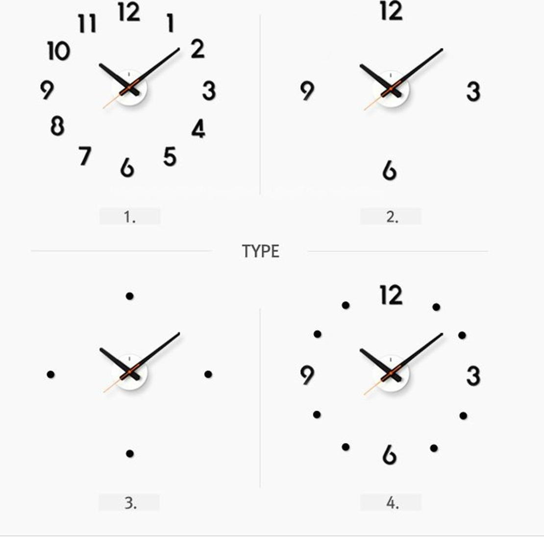 ★KOREAN DIY Wall Clock/ Wall Decoration/Wallpaper/Minimalist/Modern/Classic/Silent