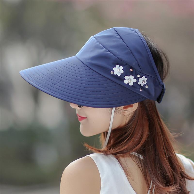 2cee6432 Foldable Sun Hat Sunhat Cap Rollable Lady Woman Korean Polarized UV Visor  sunblock